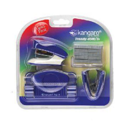 Kangaro Trendy Stapler and Punch set