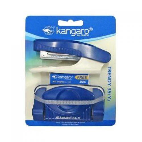 Kangaro Trendy Stapler/Punch Set