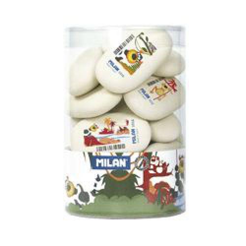 Milan Eraser Soft White 69mm Oval Bx16