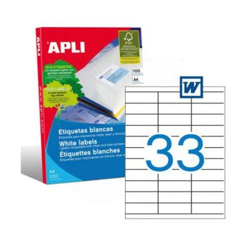 Apli 1270 Laser/Copier Labels 33up