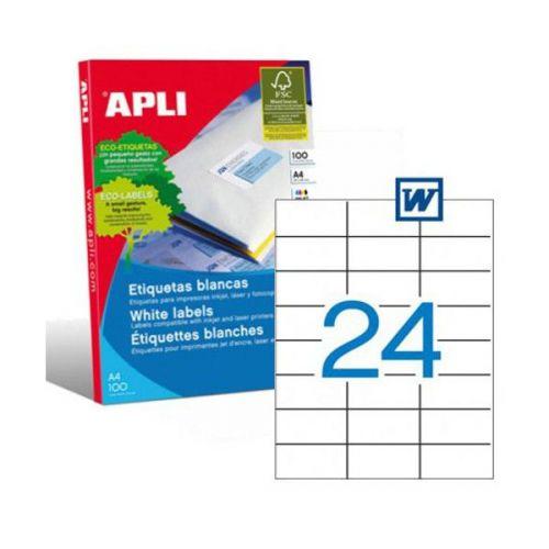 Apli 1273 Laser/Copier Labels 24up