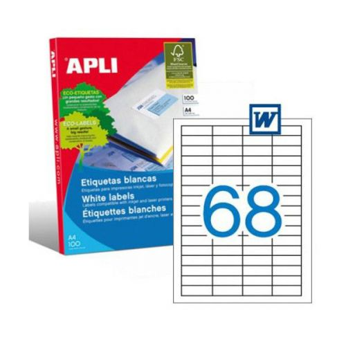 Apli 1282 Laser/Copier Labels 68up