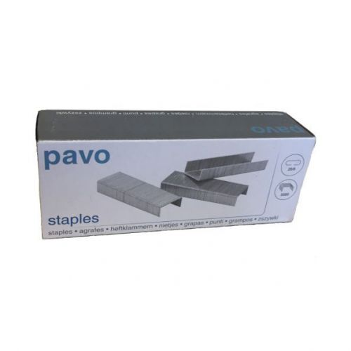 Pavo Standard Staples 26/6 Box 5000