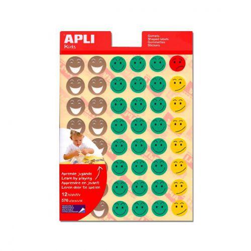 Apli Mr.Smiley Reward Stickers, 576 stickers