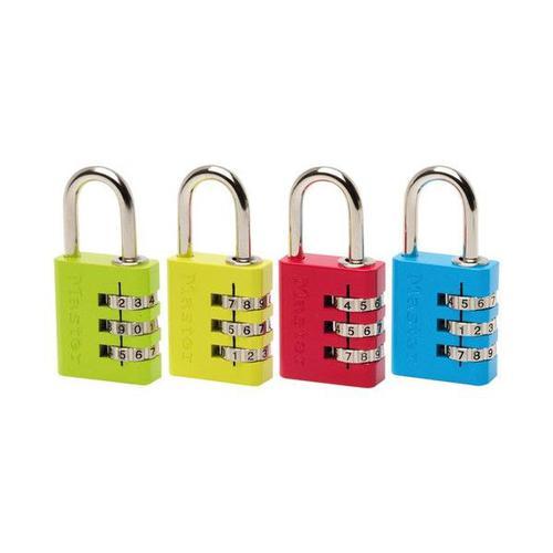 Masterlock 30mm Comb Lock Ast Cols