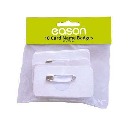 Card Badges Rectangular Bx10