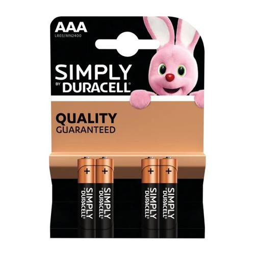 Duracell Simply battery AAA B4 Bx10
