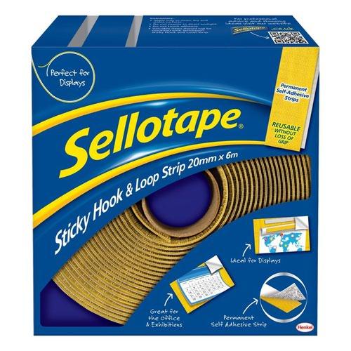 Sellotape Hook & Loop Combi pack 20mm x 6m