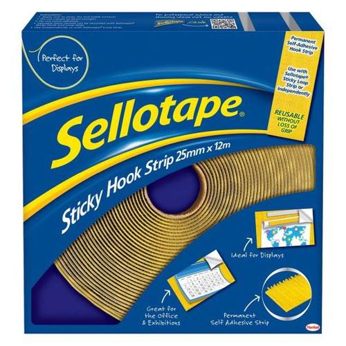 Sello Sticky Velcro Hook 25mm Strip 12m