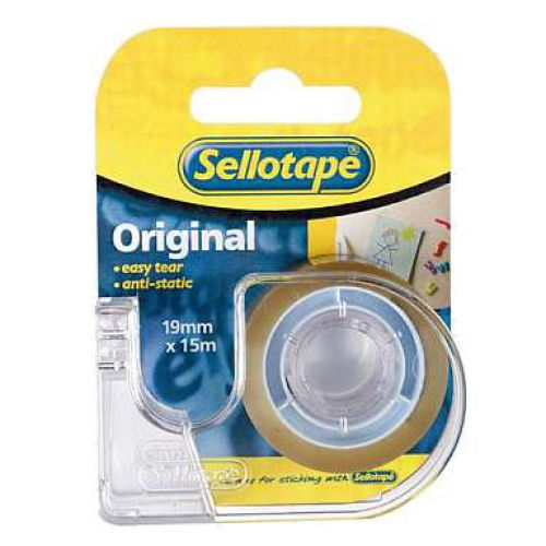 Sellotape Super Clear 18mm x 15m with Dispenser
