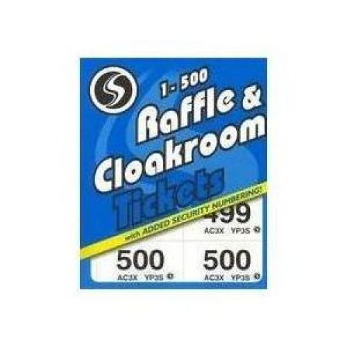Silvine, Cloakroom Ticket 1-500