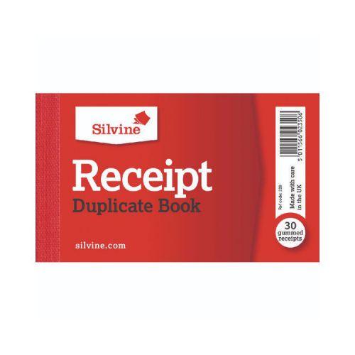 Silvine, 228 Cash Receipt Book 2x4.5 Duplicate