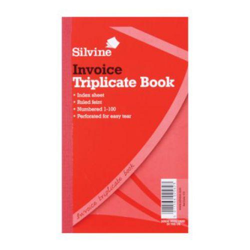 Silvine, 619 Triplicate Invoice Book 8x5