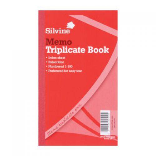 Silvine, 605 Triplicate Book 8x5