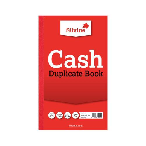 Silvine, 608 Duplicate Book ruled Cash 8x5