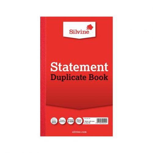 Silvine, 609 Statement Book 8x5