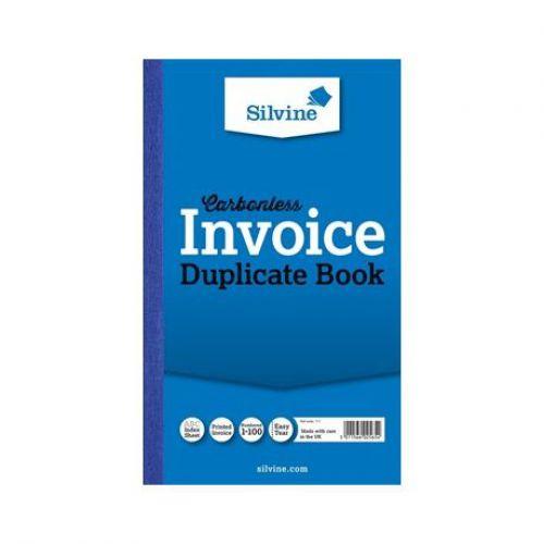 Silvine, 711 Carbonless Invoice Book 8x5