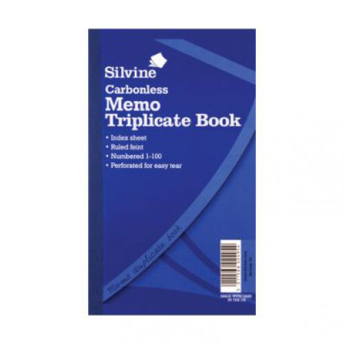 Silvine, 705 Carbonless Triplicate Book 8x5