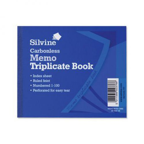 Silvine, 707 Carbonless Triplicate Book 4x5