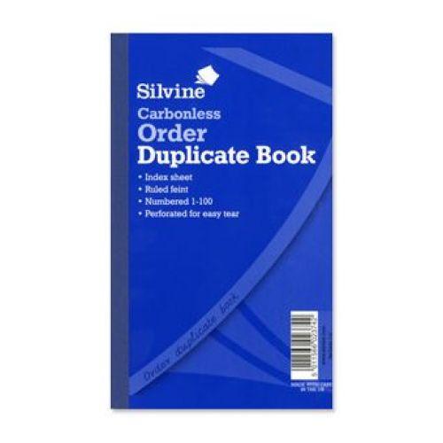 Silvine Carbonless Duplicate Order Book 1-100 8x5 Code 710