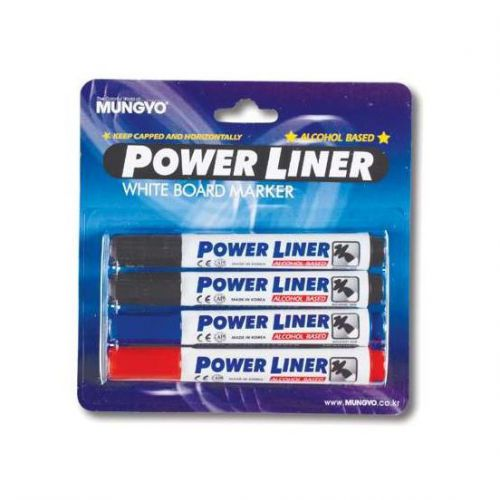 Powerliner Wipeboard Markers Chisel Ast 4 colours