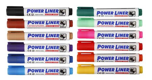 Powerliner Whiteboard Marker Chisel Ast 12 cols