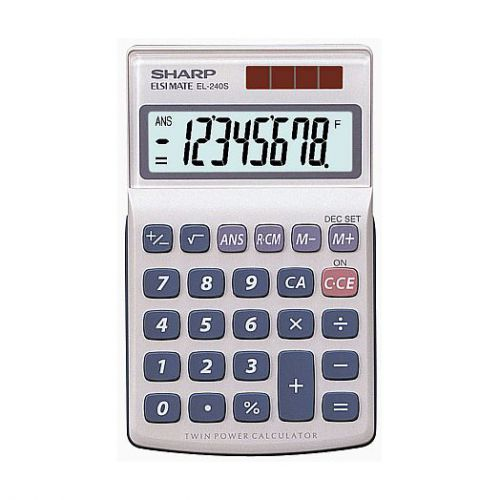 Sharp EL240SAB Pocket Calculator, 8 Digit