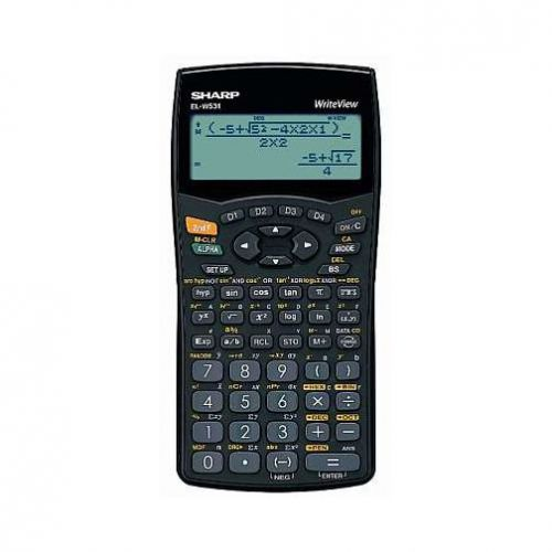 Sharp ELW531 Scientific Calculator 10+2 digit, 4 line