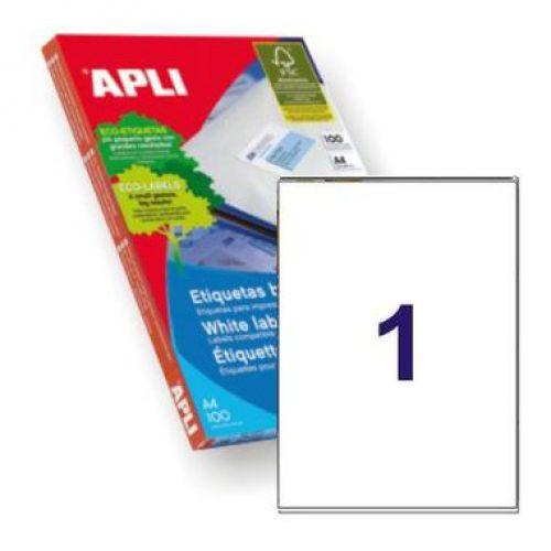 Apli 2412 Laser/Inkjet Labels 199.6x289.1mm 1up