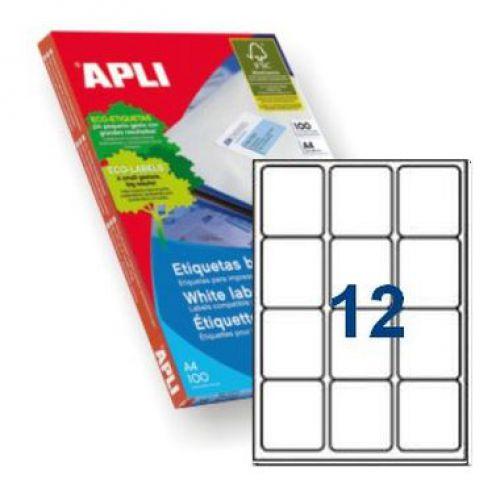 Apli 2416 Laser/Inkjet Labels 63.5x72mm      12up