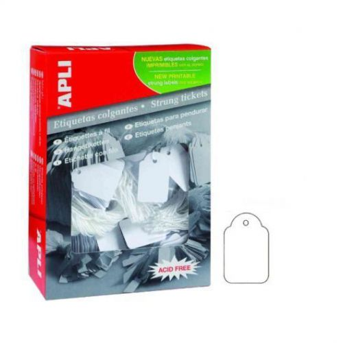 Apli 391 Strung Tags, white 28x43mm