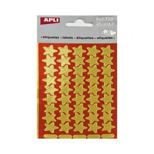 Apli, 736 Stars Gold 90 pcs