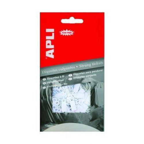 Apli 7012 Strung Tags 28x43mm Hang Pack