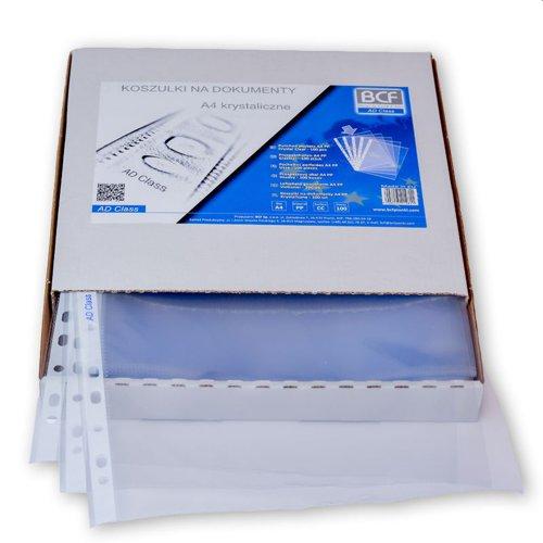 Plastic Pkts GL A4 50m Grn strip Bx100