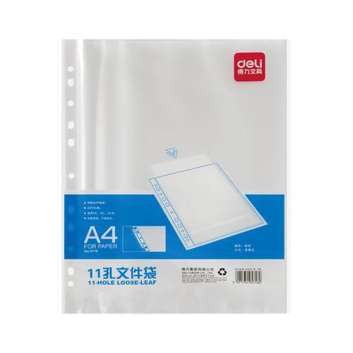 Deli A4 Plastic Pockets 50mic PaCK 20
