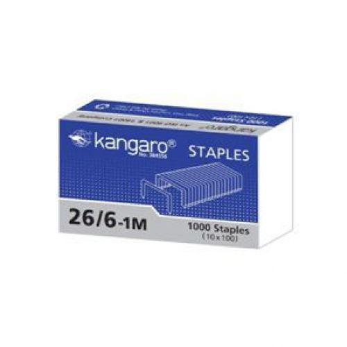 Kangaro Staples 26/6 1000s Bx20