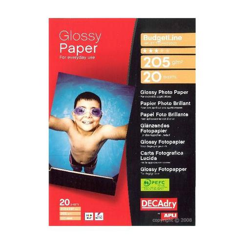 Decadry Photo Paper Budget 205gsm Pack 20