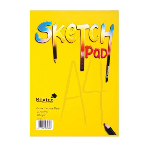 Silvine Sketch Pads A4 100Gm Pack of 12