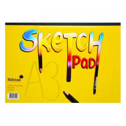 Silvine Sketch Pads A3 100Gm