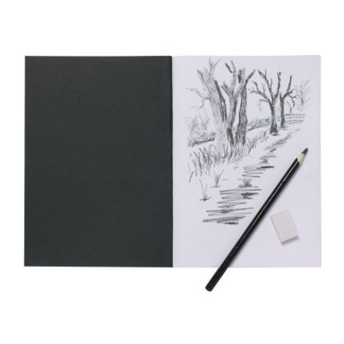 Silvine A4 Sketch Book, softcover 140gsm 40 page