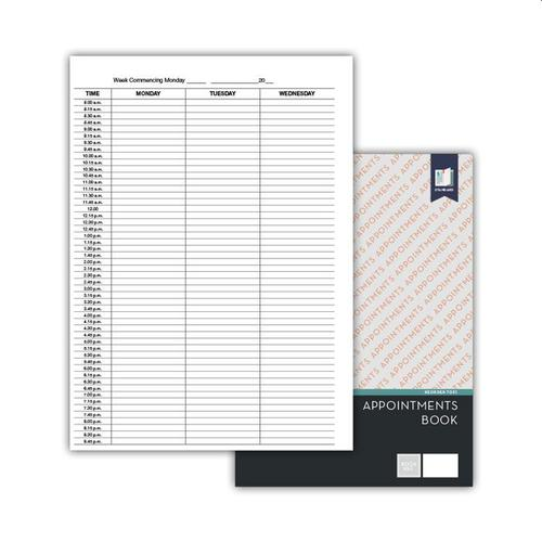 Standard Appointments Book A4, Wiro bound brown