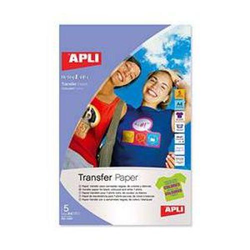 Apli 10247 T-shirt inkjet transfers, Coloured