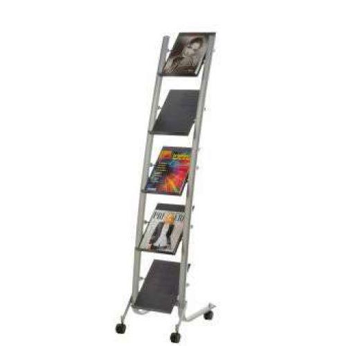 Alba 5 Shelf Mobile Literature Display A4