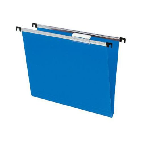 Silver, PP Suspension File F/Cap , 15mm blue