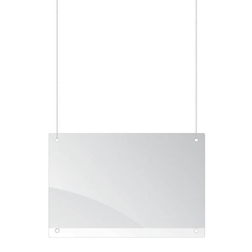 Safety Screen celling suspended 65x100cm