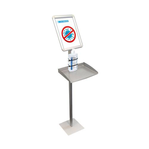 Sanitiser stand A4 with Shelf