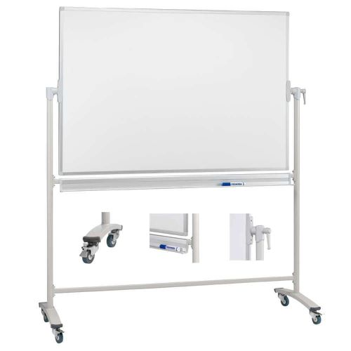 Franken Mobile Revolving Whiteboard Steel 1200x900mm