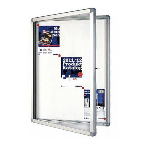 Franken Showcase Eco With Swing Doors Whiteboard