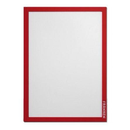 Franken Document Holder Pro A4 Self Adhesive Red Pk2