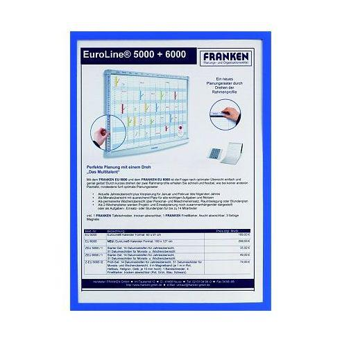 Franken Document Holder A4 Magnetic Blue Pack 5